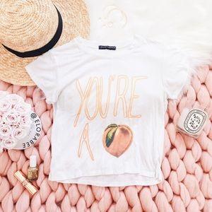 Brandy Melville Peach Tee